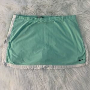 Nike Dri Fit Tennis Golf Skort Teal White Size 10